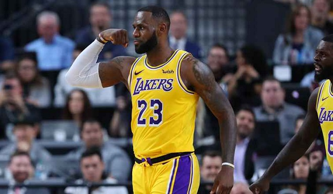 Lakers-LA-LeBron-James-NBA-franchise-record-playoff-nba-košarka